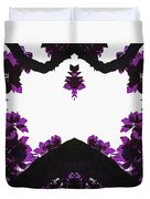 Purple Leaves Duvet Cover