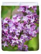 Purple Lilac Flowers Duvet Cover