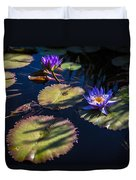 Purple Lily Duvet Cover