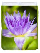 Purple Lotus Blossom Duvet Cover