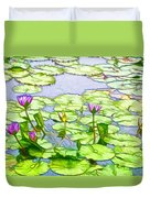 Purple Lotus Flower  Duvet Cover