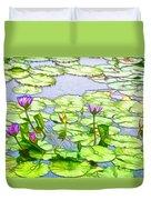Purple Lotus Flower  Duvet Cover