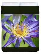 Tropical Purple Water Lily Duvet Cover