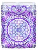 Purple Lotus Mandala Duvet Cover