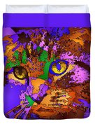 Purple Love. Pet Series Duvet Cover