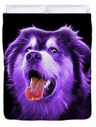 Purple Malamute Dog Art - 6536 - Bb Duvet Cover