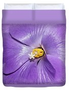 Purple Mallow Mist Duvet Cover