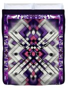 Purple Maze Duvet Cover