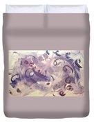 Purple Mind  Duvet Cover