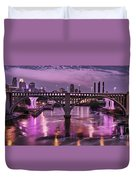 Purple Minneapolis For Prince Duvet Cover