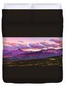 Purple Mountain Sunset Duvet Cover
