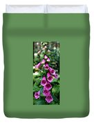 Purple Mouth Flowers Duvet Cover