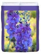 Purple Mullein Duvet Cover