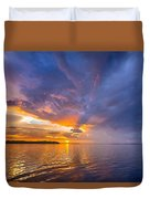 Purple Orange Dream Sunset Duvet Cover