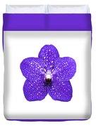 Purple Orchid On White Duvet Cover
