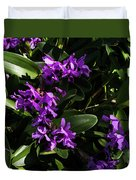 Purple Orchid Plant Duvet Cover