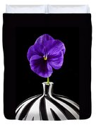 Purple Pansy Duvet Cover