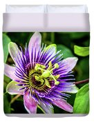 Purple Passion Bloom Duvet Cover