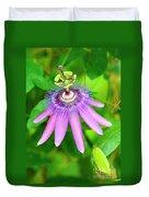 Purple Passion Vine Duvet Cover