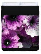 Purple Petunia Paradise Duvet Cover