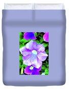 Purple Petunias 2 Duvet Cover