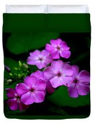 Purple Phlox By Earl's Photography Duvet Cover