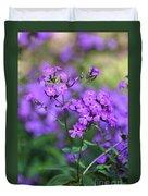 Purple Phlox Duvet Cover