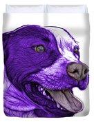 Purple Pit Bull Fractal Pop Art - 7773 - F - Wb Duvet Cover