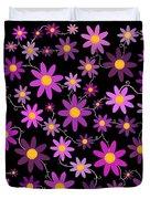 Purple Polka Duvet Cover