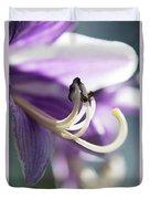 Purple Pollenate Duvet Cover