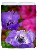 Purple Poppies Duvet Cover