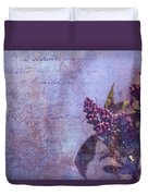 Purple Prose Duvet Cover