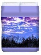 Purple Puffs Duvet Cover