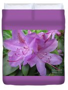 Purple Rhododendron Duvet Cover