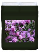 Purple Rhododendrons Duvet Cover