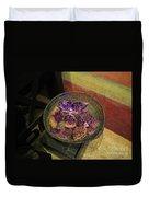 Purple Rocks Duvet Cover