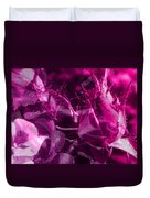 Purple Rose And Pansy Duvet Cover
