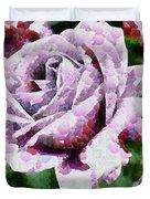 Purple Rose Painting Duvet Cover