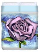 Purple Rose Duvet Cover by Robert Morin