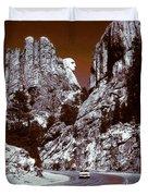 Purple Mount Rushmore Vision Duvet Cover