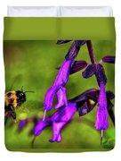 Purple Salvia 002 Duvet Cover