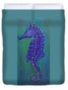 Purple Seahorse Duvet Cover