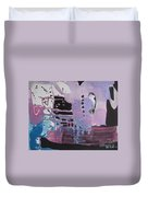 Purple Seascape Duvet Cover