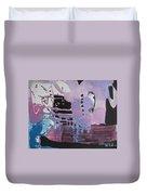 Purple Seascape Duvet Cover