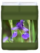 Purple Siberian Iris Duvet Cover