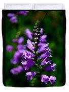Purple Skullcap Bloom Duvet Cover