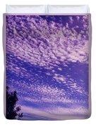 Purple Sky At Casapaz Duvet Cover