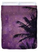 Purple Sky Palm Duvet Cover