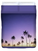 Purple Sky Palms Duvet Cover
