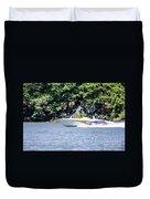 Purple Speed Boat Duvet Cover